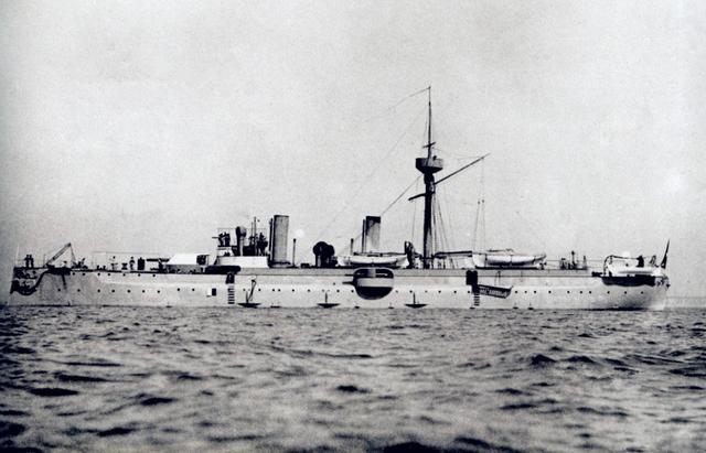 北洋军舰模手绘图
