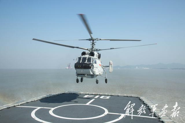 中国海军预警直升机罕见曝光,竟然出现在这型