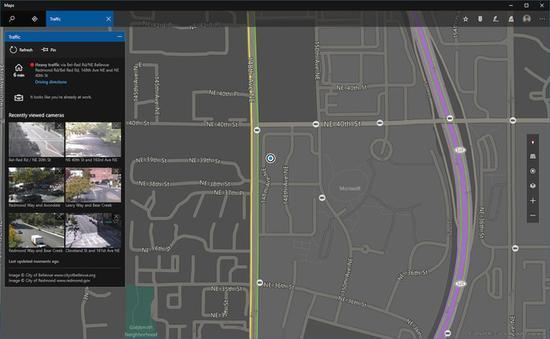 Windows 10自带地图将显示交通路况 - 科技 - 东