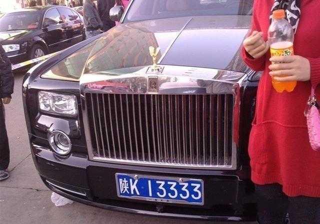 豪车最多的陕西榆林地区,劳斯莱斯车牌很霸气