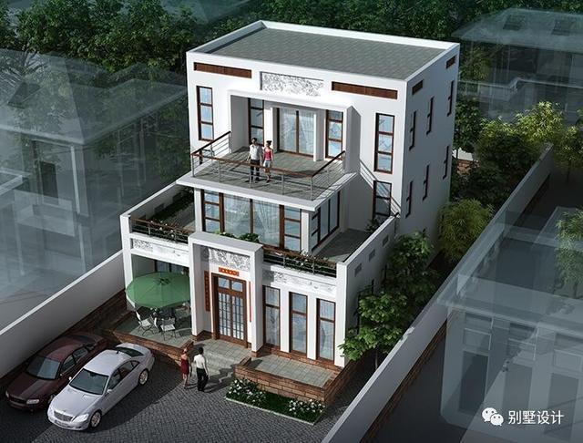 新农村三层中式对称自建房别墅图纸 带效果图平面图!