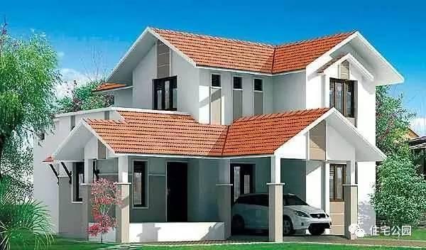 4款 农村建房斜坡 屋顶结构做法施工设计图 自建小别墅多层的设计展现