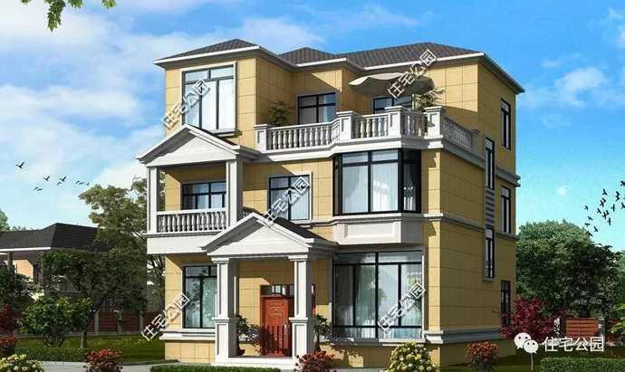 4套面宽10米自建房,经济实用,都说第3套最好看!含图纸