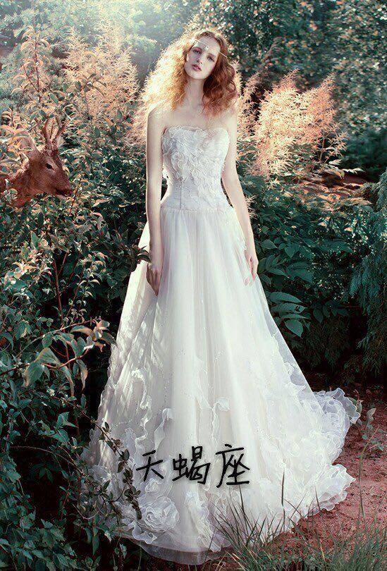 最美的婚纱女生你!十二星座的专属就是巨蟹座新娘经常不理人图片