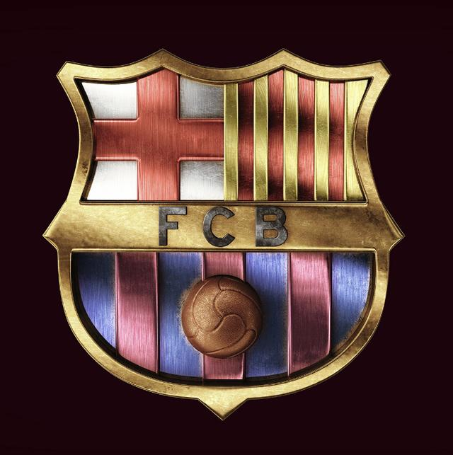 谁做的那么漂亮金属质感足球队徽?你粗来,我们