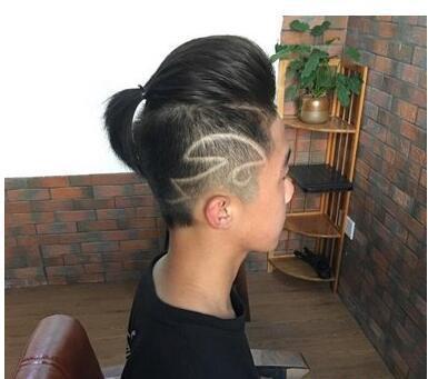 17年流行的图片小辫发型短发,潮男发型有头顶齐耳发型短发女男生图片个性图片