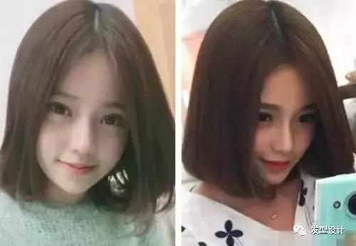 2017女生中分短发发型