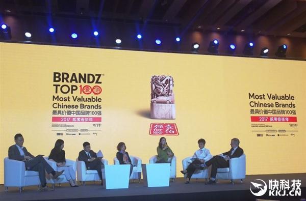 2017最具价值中国品牌百强出炉:手机品牌华为