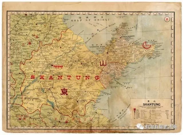 清代山东彩色地图,能认出这些地名是现在哪吗?